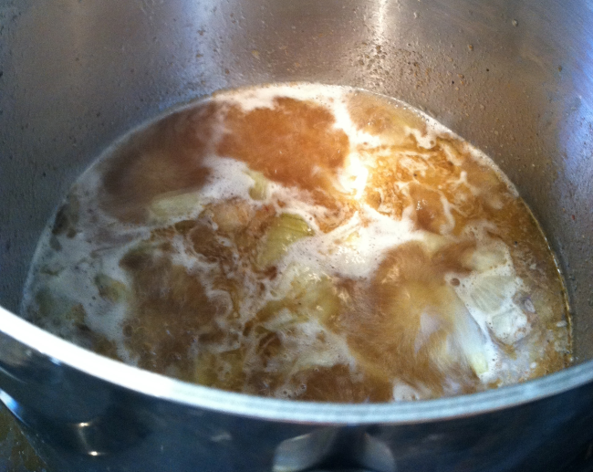 apple pie braising pork