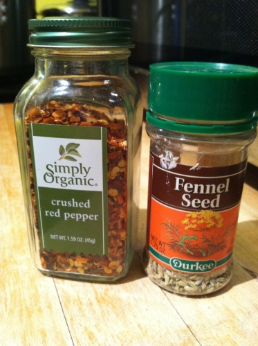 3 ingredient pepper flakes & fennel