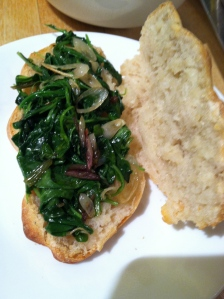 grifters sauteed arugula and ramps 2